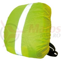 Husa rucsac cu banda reflectorizanta galben neon
