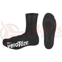 Huse pantofi sosea Velotoze Road latex inalte negre