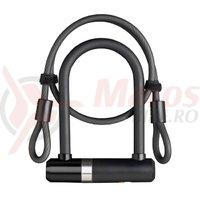 Incuietoare Axa Newton Pro UL MINI 150/14 cablu 100*8mm negru