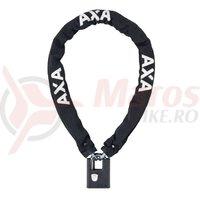 Incuietoare cu lant AXA Clinch 105x7.5 Black soft