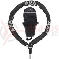Incuietoare lant AXA Plug-in RLC + gentuta sa 100cm/5,5mm negru