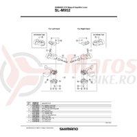 Indicator Shimano SL-M952 stanga