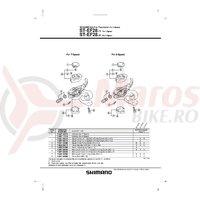 Indicator Shimano ST-EF28-8T dreapta