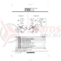 Indicator Shimano ST-EF29 dreapta 8v & suruburi