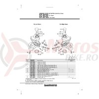 Indicator Shimano ST-EF33-8 dreapta 8v