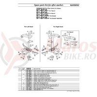 Indicator Shimano ST-EF35 stanga & suruburi