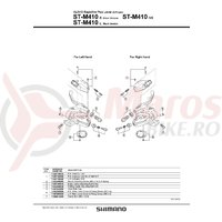 Indicator Shimano ST-M410 stanga