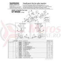 Indicator Shimano ST-M566 stanga