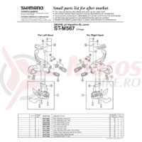 Indicator Shimano ST-M567 dreapta