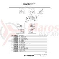 Indicator Shimano ST-M750 stanga
