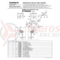 Indicator Shimano ST-M950 stanga