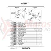 Indicator Shimano ST-M960 stanga