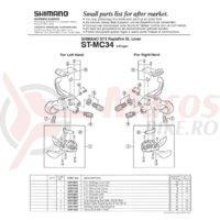 Indicator Shimano ST-MC34 dreapta