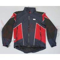 Jacheta de ploaie Shimano Performance MTB argintiu/rosu