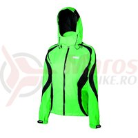 Jacheta de ploaie Shimano Performance pentru femei verde/negru
