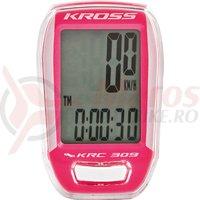 Kilometraj Kross KRC 309 9-functii wired white/pink