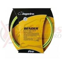Kit bowden frana BMX Jagwire Bender Pro diametru 5mm verde Merida 'substrat de chevlar' 1145mm