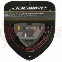 Kit bowden frana Jagwire MTB Elite Link (MCK703) STS-EL Elite Polished, alu. Links 5mm, rosu (include toate piesele necesare montarii-max.1430mm) AM