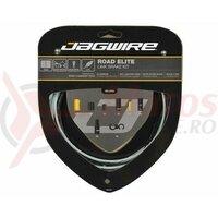 Kit bowden frana Jagwire Road Elite Link (RCK700) STS-EL Elite Polished, alu. Links 5mm, negru (include toate piesele necesare montarii) AM