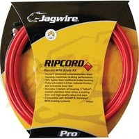 Kit bowden frana MTB Jagwire Ripcod Pro diametru 5mm rosu 'substrat de chevlar' 3000mm