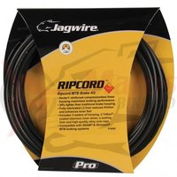 Kit bowden frana MTB Jagwire Ripcord Pro diametru 5mm negru carbon 'substrat de chevlar' 3000mm