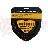 Kit bowden schimbator Jagwire 2 x Pro (PCK500) diam.4mm Lex-SL / STS-PS, negru, 3200mm (include toate piesele necesare montarii) AM