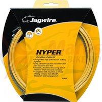 Kit bowden schimbator Race/ MTB Jagwire Hyper diam.4mm Lex auriu 2500mm