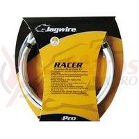 Kit bowden schimbator+frana Jagwire Racer diametru 4mm-5mm alb 1700mm/1700mm