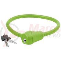 "Antifurt cu cheie verde M-Wave ""S 12.6 S"" 12×600 mm"