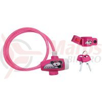 Lacat Force pentru copii 80 cm/8 mm roz