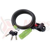 Lacat merida Lock 120*15mm negru/verde