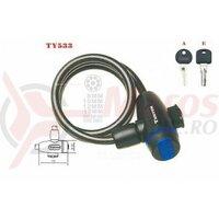 Lacat Tonyon TY533, 10X1000 cu cheie, negru