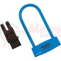 Lacat U-Lock cu cifru Kross KZU 150 123 mm x 228 mm blue