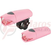 Lampa fata Kross Scope 5 LED 2 functii pink