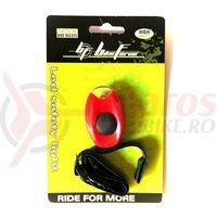 Lampa semnalizare BikeForce Rider Red 1 led Red 3 functii