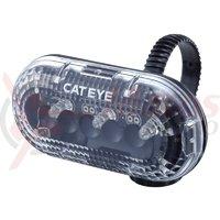 Lampa spate Cateye TL-LD130-F transparent include baterii