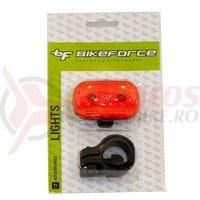 Lampa spate BikeForce Modest 3 led Red 3 functii impermeabil