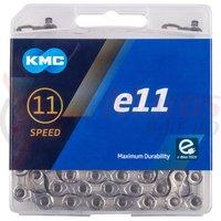"Lant KMC ""e11-Silver"" E-Bike 11 viteze 122 zale"