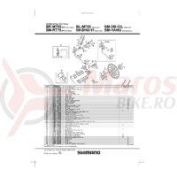 Levier maneta Shimano BL-M755