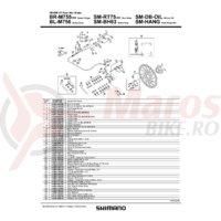 Levier maneta Shimano BL-M756-S