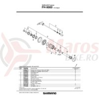 Low Spacer Shimano FH-9000 1.85mm