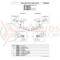 Maneta de schimbator ansamblu Shimano SL-M570 stanga