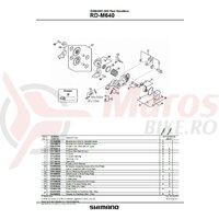 Maneta de tensionare &  placa de fixare Shimano RD-M640