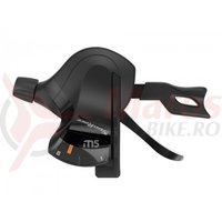 Maneta schimbator Sunrace DLM500 Trigger 8 vit, neagra