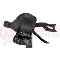 Maneta schimbator Sunrace DLM930 Trigger 9 vit neagra