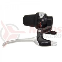 Manete frana al.Saccon L214A5W3R04 (ideala revo Nexus) pt.roller brake argintiu/negru