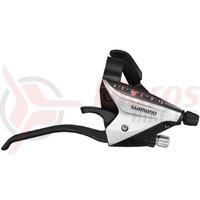 Manete schimbator/frana set Shimano ST-EF65-4A 3x9v Argintiu