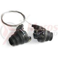 Manete schimbator Shimano Tourney Revo 3x6v cu cabluri
