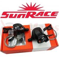 Manete schimbator Sunrace DLMS30 Trigger 2/3x10 vit negre