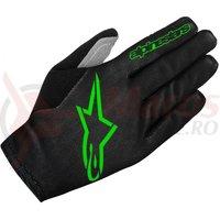 Manusi Alpinestars Aero 2 black/bright green